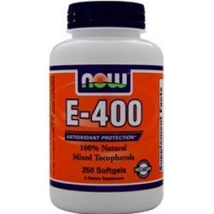 NOW E-400 (Смешанные токоферолы) 50 капсул