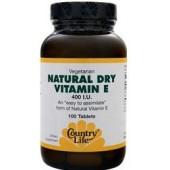 COUNTRY LIFE Натуральный сухой Витамин Е (400 МЕ) 100 таблеток