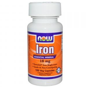 NOW Железо 18 мг 120 капсул