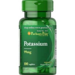 Puritan's Pride Калий 99 мг 100 таблеток