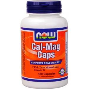 NOW Cal-Mag Caps Кальций-Магний 120 капсул