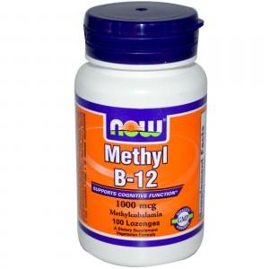 NOW Methyl В12 (1000 мкг) 100 леденцов