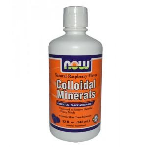 Now Foods Коллоидные минералы, вкус малины, 946 мл.