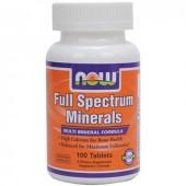NOW Мультиминералы полного спектра 100 таблеток