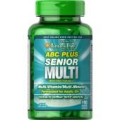 Puritan's Pride ABC Plus® Senior Multivitamin Multi-Mineral Formula 120 Caplets