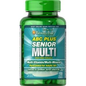 Puritan's Pride ABC Plus® Мультивитамины и мультиминералы 120 таблеток