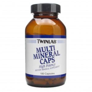 TWINLAB Мультиминералы 180 капсул