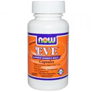 NOW Мультивитамины для женщин EVE без железа 120 капсул