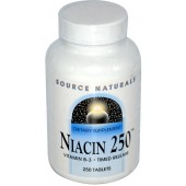 SOURCE NATURALS Ниацин 250 - С ЗАМЕДЛЕННЫМ ВЫСВОБОЖДЕНИЕМ 250 таблеток