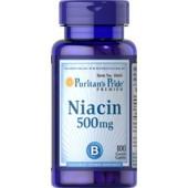 Puritan's Pride Ниацин (Никотиновая кислота) 500 мг 100 таблеток