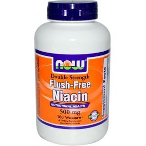 NOW Ниацин Без покраснений (500 мг) 90 капсул