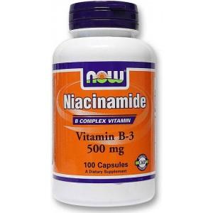 NOW Ниацинамид (500 мг) 100 капсул