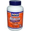 NOW Никотиновая кислота (500 мг) - с замедленным высвобождением 100 таблеток