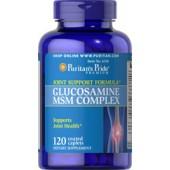 Puritan's Pride Комплекс Глюкозамин и Метилсульфонилметан MSM 500/333мг 120 таблеток