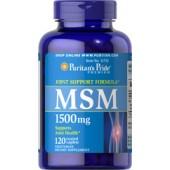 Puritan's Pride MSM Метилсульфонилметан 1500 мг 120 таблеток