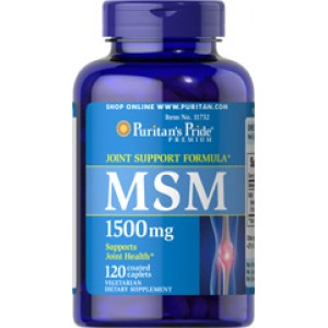 Puritan's Pride MSM Метилсульфонилметан 1500 мг 120 капсуловидных таблеток