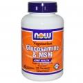 NOW Foods Глюкозамин и Метилсульфонилметан MSM 500/500 мг 120 капсул