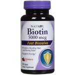 NATROL Биотин 5,000 мкг со вкусом клубники 90 таблеток